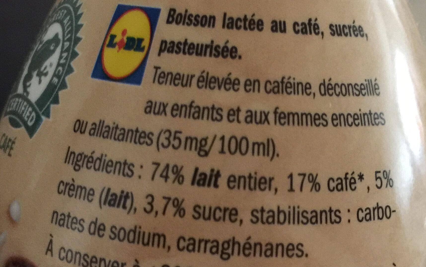 Latte Macchiato - Inhaltsstoffe