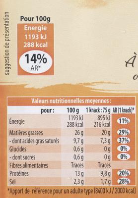 4 Knacks - Nutrition facts