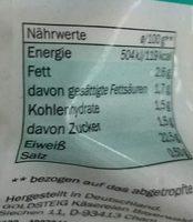 Skyrella - Informations nutritionnelles - de