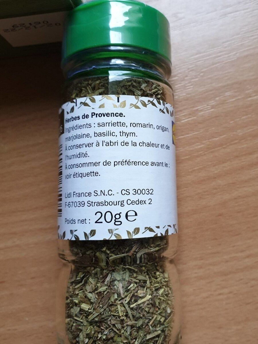 Herbes de Provence - Voedingswaarden - en
