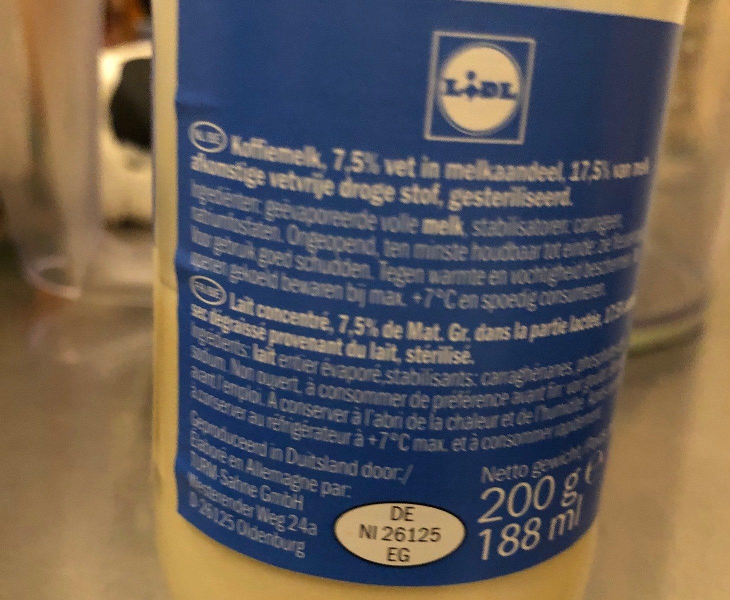 Mleko zagęszczone 7.5% - Ingrédients