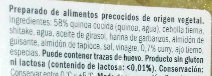 2 Burgers Vegetales Quinoa al Curry - Ingredientes