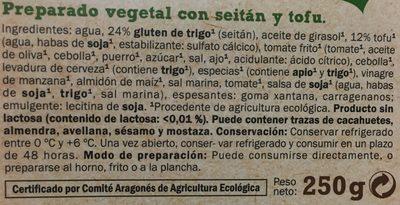 Seitan tofu - Ingrédients - fr