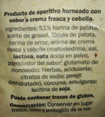Chips snack day crema fresca y cebolla - Ingredientes