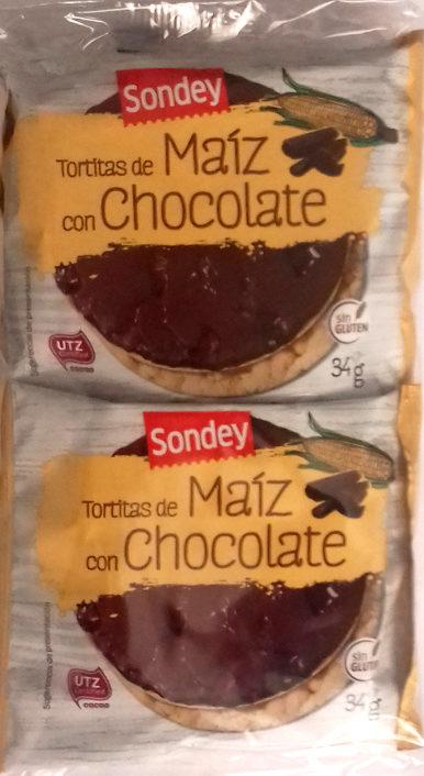 Tortitas de maíz con chocolate - Producte - es
