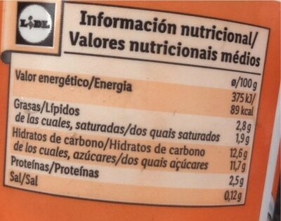Yaourt abricot - Informations nutritionnelles - fr