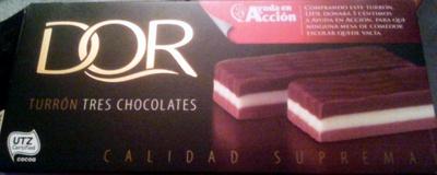 Turron tres chocolates - Producto