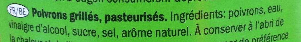 Poivrons grillés - Inhaltsstoffe - fr