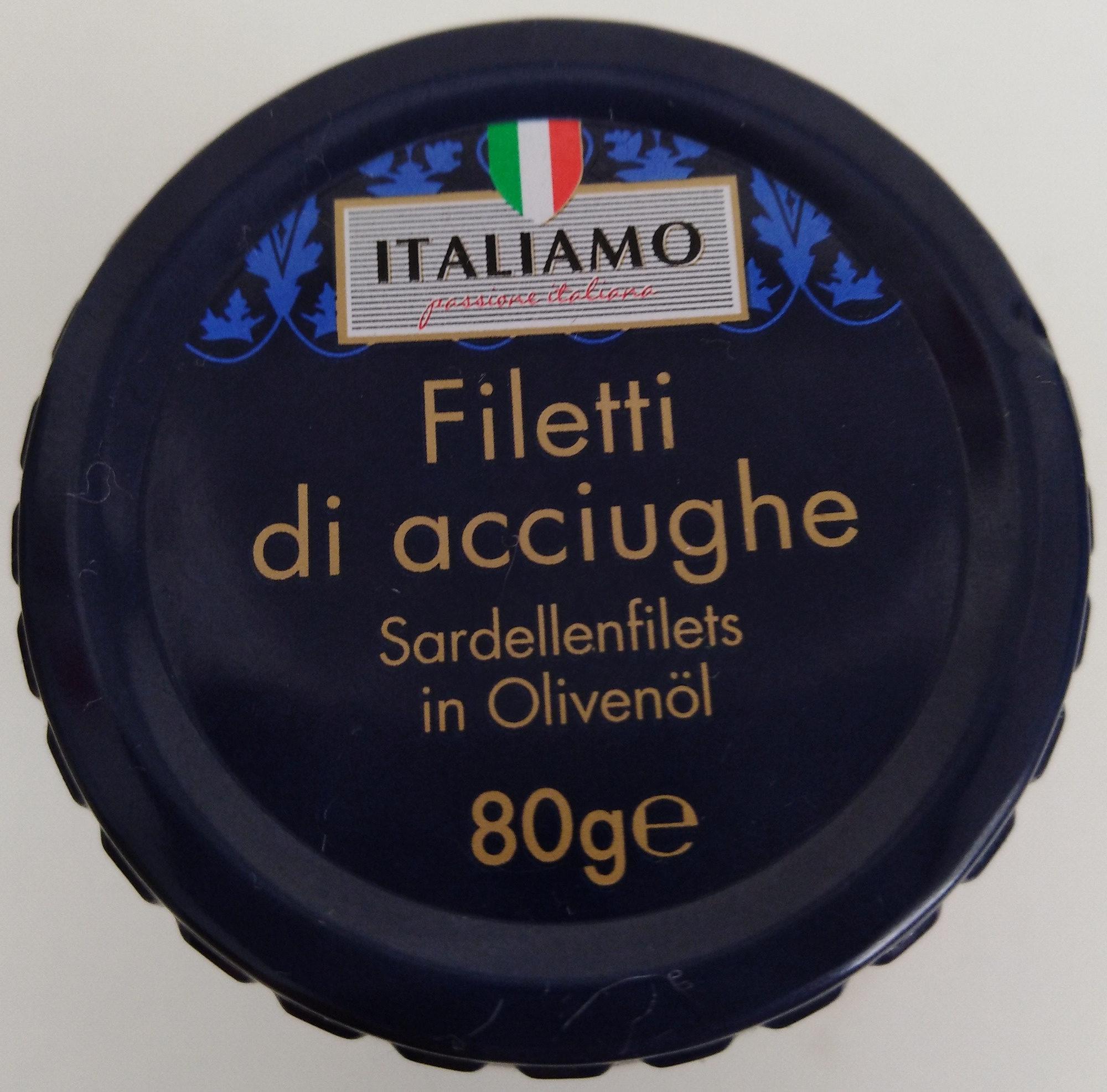Anchovy fillets in olive oil - Produkt - de