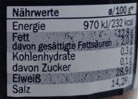 Anchovy fillets in olive oil - Nährwertangaben - de