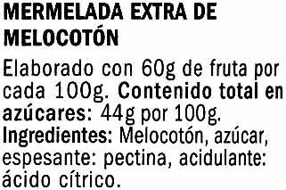 Mermelada de melocotón - Ingredientes