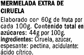 Mermelada de ciruela - Ingredients