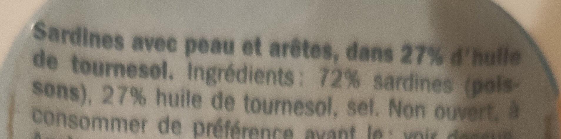 Sardines - Ingredients - fr