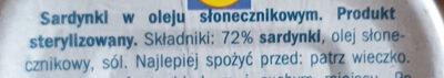 Sardinas - Składniki - pl
