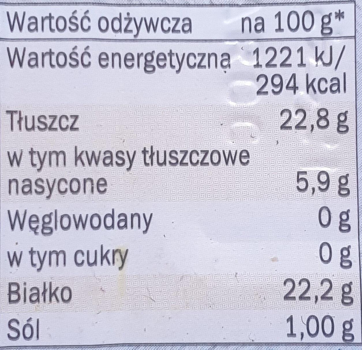 Sardinas - Wartości odżywcze - pl