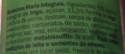 Galleta maria integral - Ingredients - es