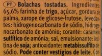 Sondey Tostada - Ingredientes