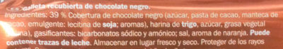 Morenazos con chocolate negro - Ingredients