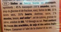 mini marzipan butter stollen - Ingrédients - fr