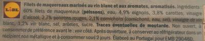 Filets de maquereaux aux vin blanc et aux aromates - Ingredients - fr