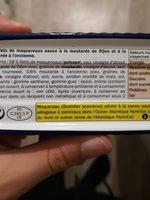 Filets de Maquereaux (A la Moutarde a l'ancienne) - Ingrediënten