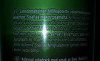 Cola sugar-free lime - Ingredients
