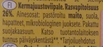 Butterkäse - Ainesosat - fi