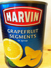 grapefruit segments in syrup - Produit