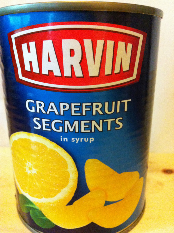 grapefruit segments in syrup - Ingrédients