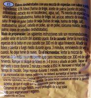 Pasta Oriental/ Noodles sabor a poll - Ingredients - es