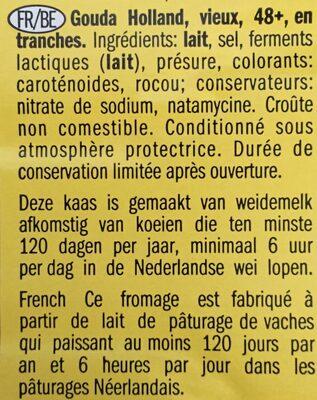 Gouda Holland oud I vieux - Ingrediënten - fr