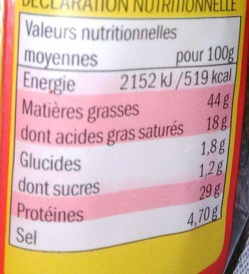 Saucisson Sec à Croquer, 150g - Informations nutritionnelles - fr