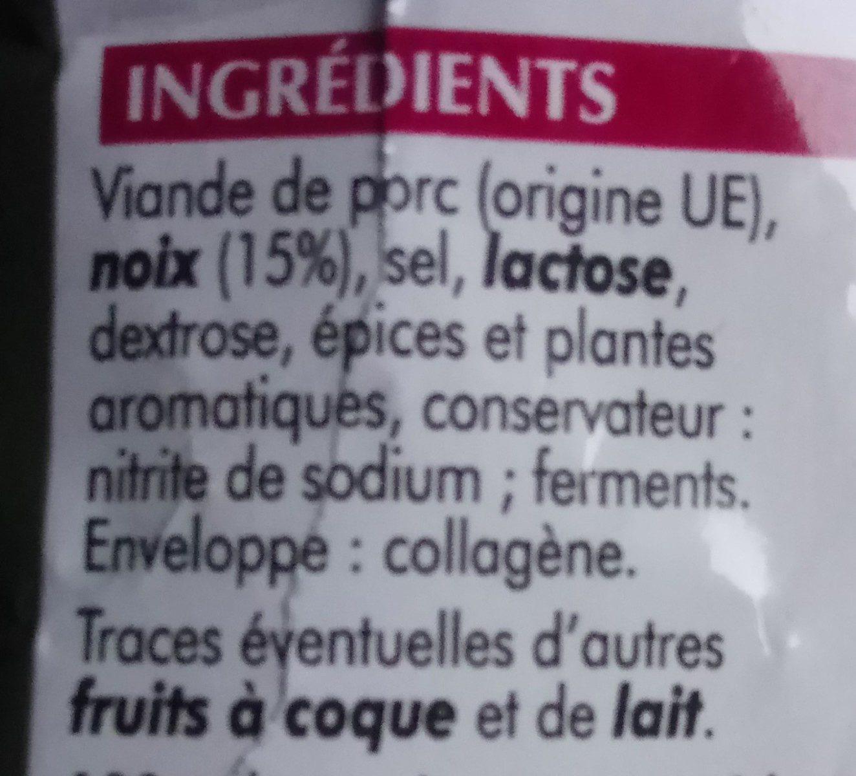 Mini saucissons aux noix - Ingrédients - fr