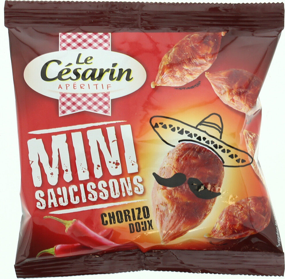 Mini saucissons chorizo doux - Produit - fr