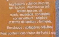 Mini saucissons nature - Ingredienti - fr