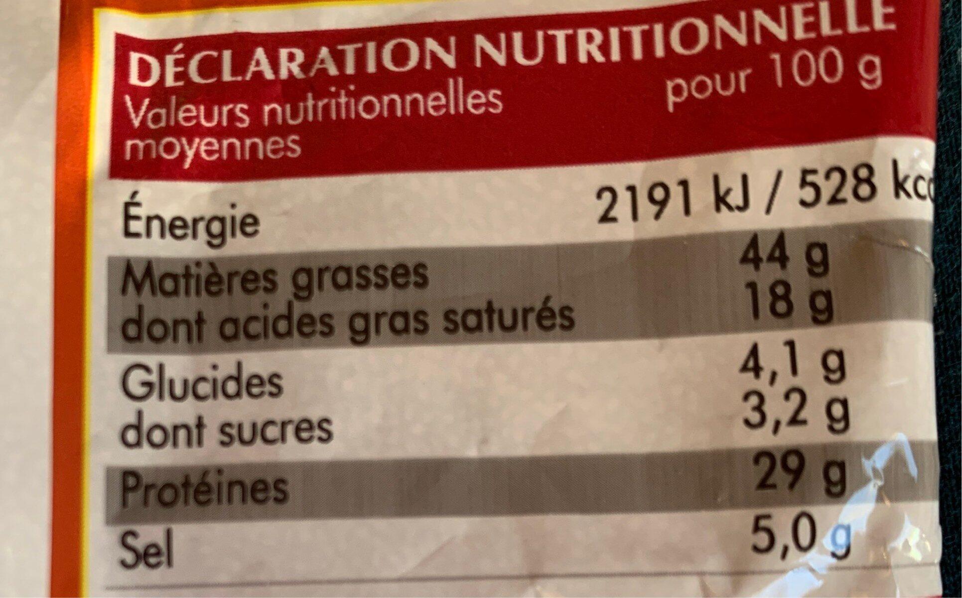 Mini saucissons nature (porc) - Voedingswaarden - fr