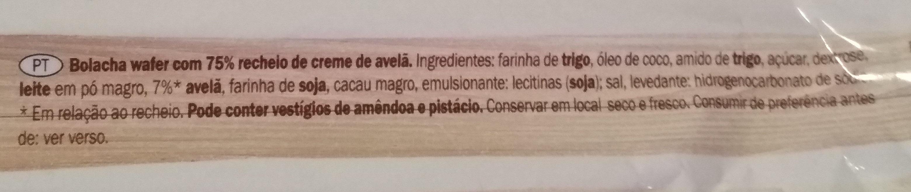 wafers - Ingredientes - pt
