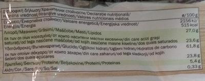 wafers - Informação nutricional - pt