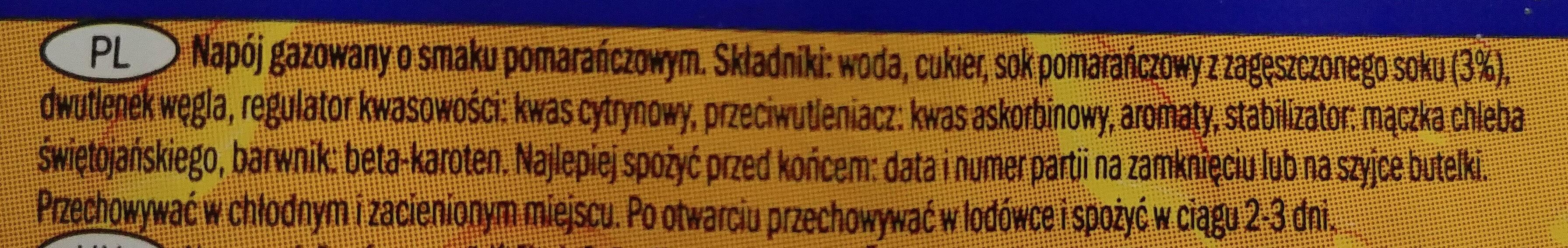 Napój gazowany o smaku pomarańczowym - Ingredients - pl