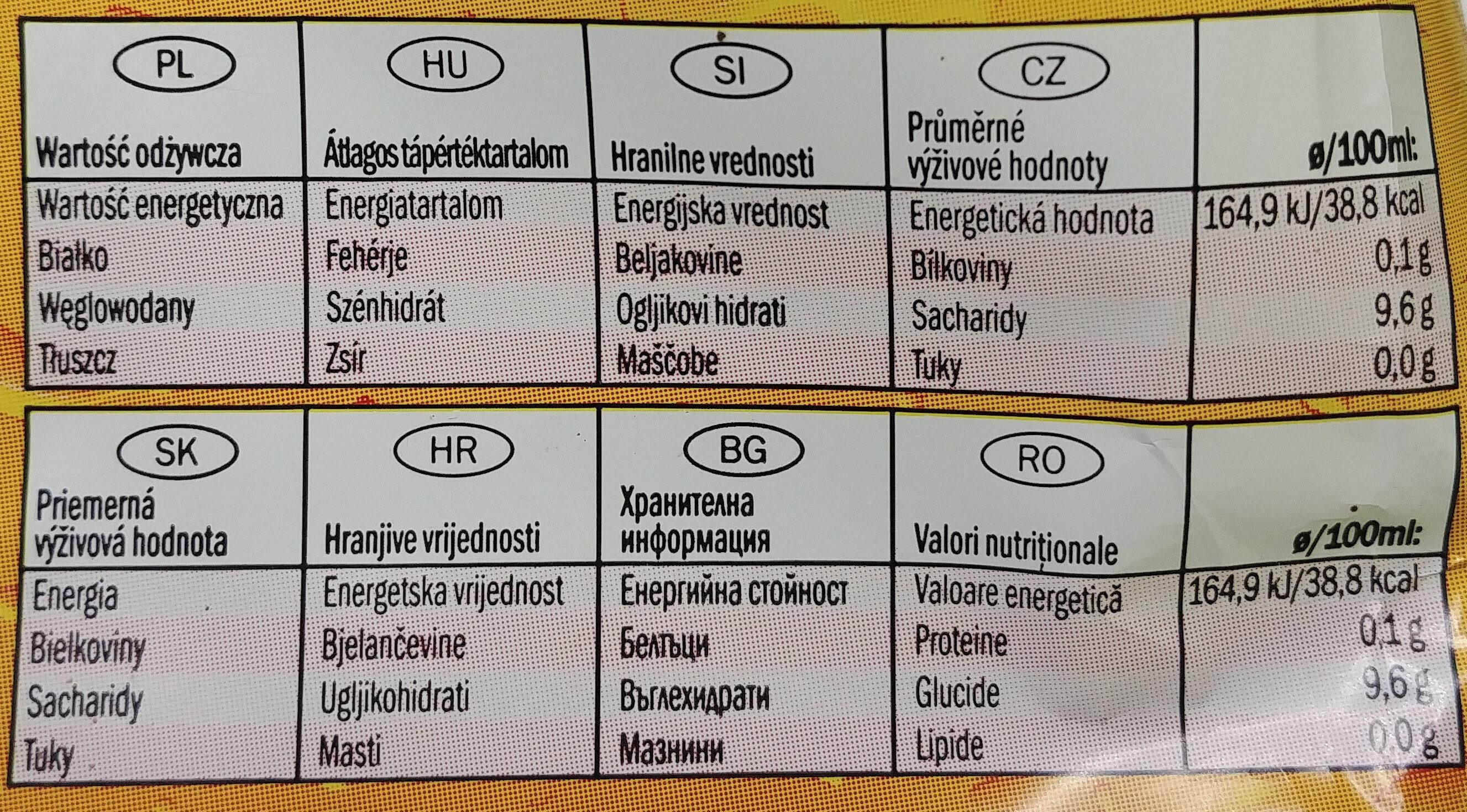 Napój gazowany o smaku pomarańczowym - Nutrition facts - pl