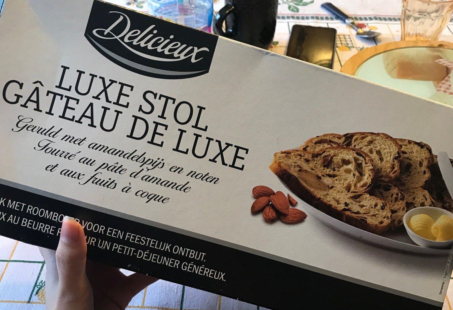 Luxe Stol, Gâteau de Luxe Fourré Pâte d'Amande et Fruits à Coque - Product - fr