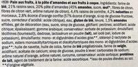 Luxe Stol, Gâteau de Luxe Fourré Pâte d'Amande et Fruits à Coque - Ingredients - fr
