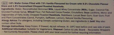Gelatelli vanilla - Ingredients