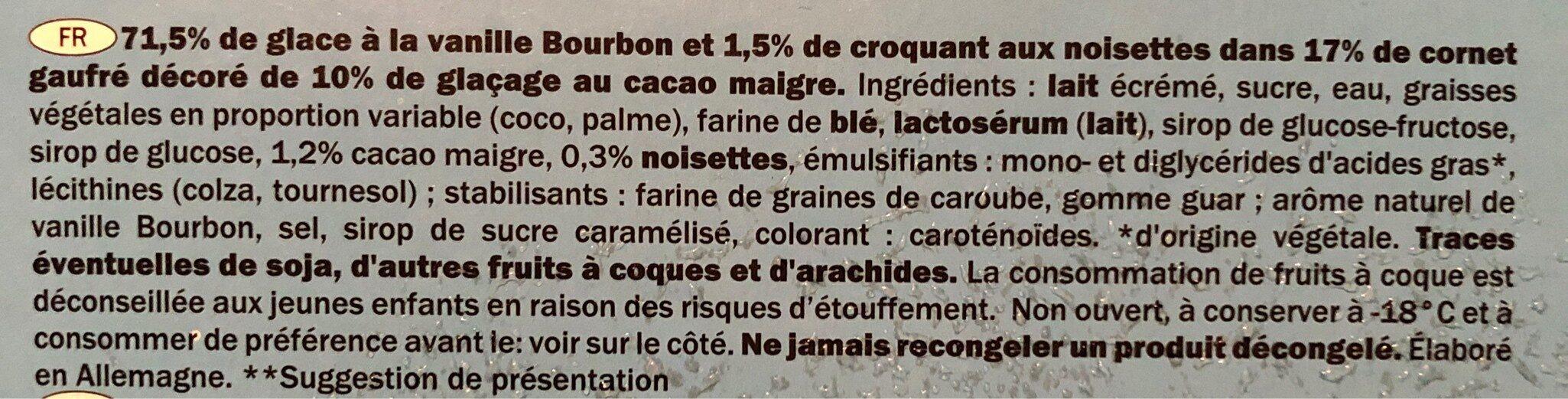 Gelatelli vanilla - Ingrediënten