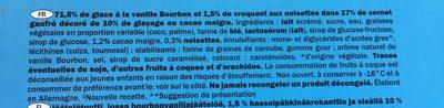 Gelatelli vanilla - Voedingswaarden