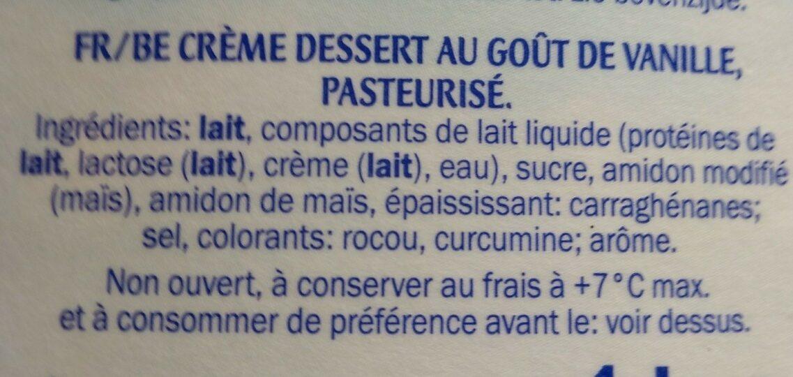 Vla met vanillesmaak - Ingredients - nl