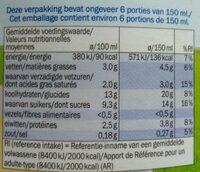 Vla met vanillesmaak - Nutrition facts - nl