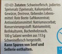 Salami geräuchert - Ingrédients - de