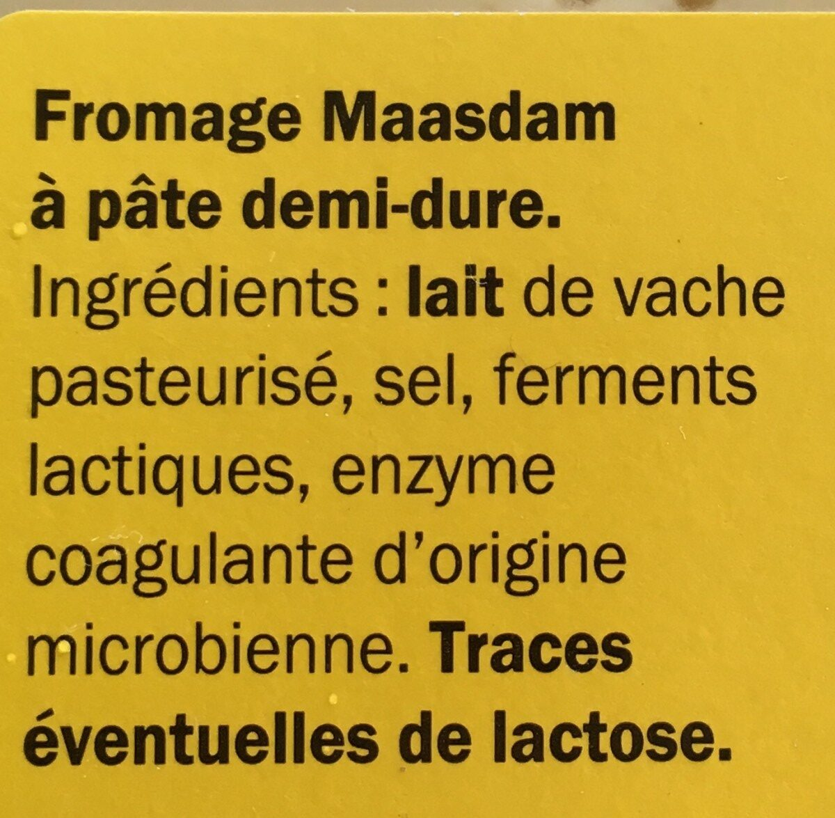 Maasdam Classic - Ingrédients