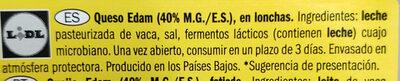 Queso Edam - Ingredientes - es